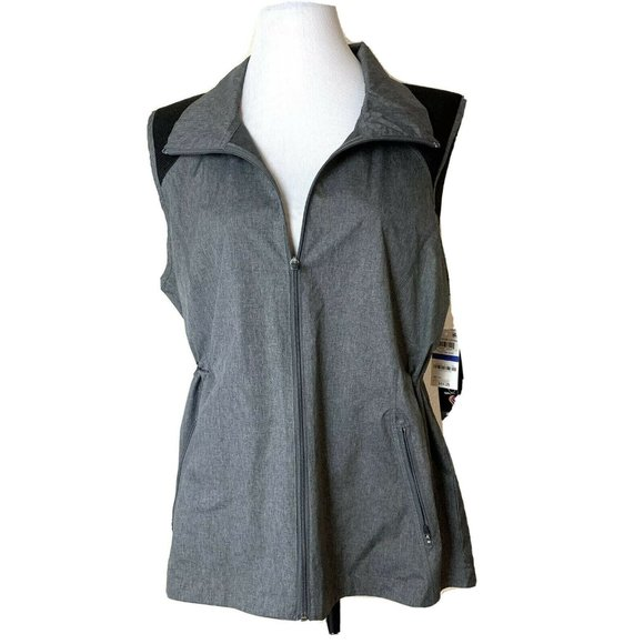 Ideology Jackets & Blazers - Ideology Womens Vest XL Outdoor Living Charcoal Me